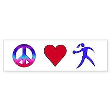 Peace Love Discus Bumper Sticker