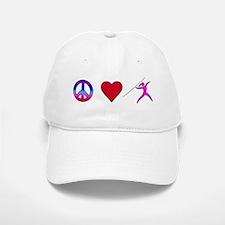 Peace Love Javelin Baseball Baseball Cap