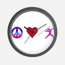 Peace Love Javelin Wall Clock