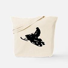 Snowmobile Tote Bag