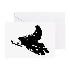 Snowmobile Greeting Card
