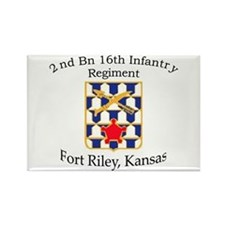 2nd Bn 16th Infantry Rectangle Magnet