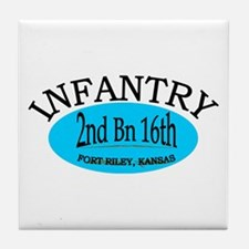 2nd Bn 16th Infantry Tile Coaster