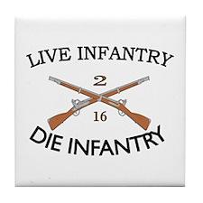 2nd Bn 16th Infantry Tile Coaster