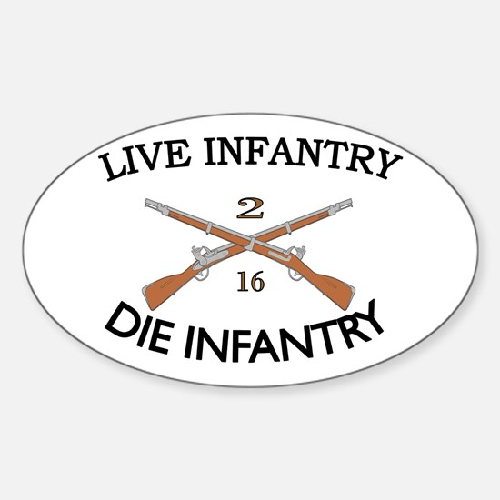 2nd Bn 16th Infantry Sticker (Oval)