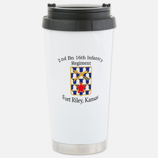 2nd Bn 16th Infantry Stainless Steel Travel Mug