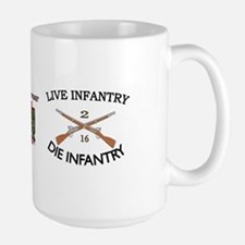 2nd Bn 16th Infantry Large Mug