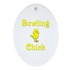 Bowling Chick Ornament (Oval)