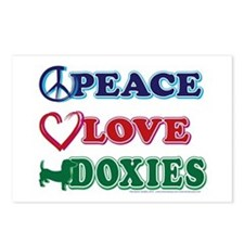Peace Love Doxies - Dachshunds Postcards (Package