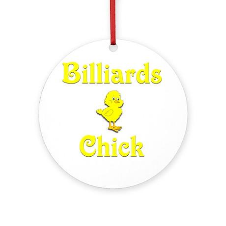 Billiards Chick Ornament (Round)