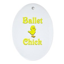 Ballet Chick Ornament (Oval)
