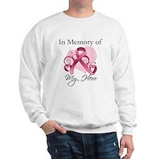 Breast Cancer In Memory Hero Sweatshirt