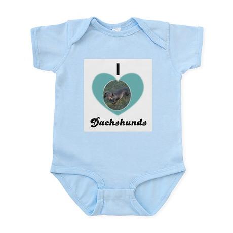 I LOVE DASHSHUNDS Infant Creeper