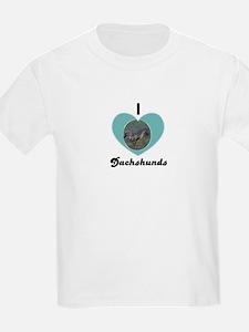 I LOVE DASHSHUNDS Kids T-Shirt