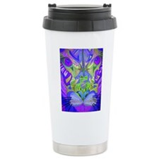 Abstract Cougar Travel Mug