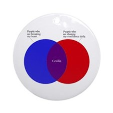 Cute Charts Ornament (Round)