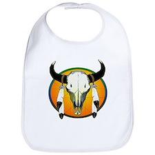 Buffalo skull Bib