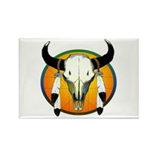 Buffalo skull Rectangle Magnet (10 pack)