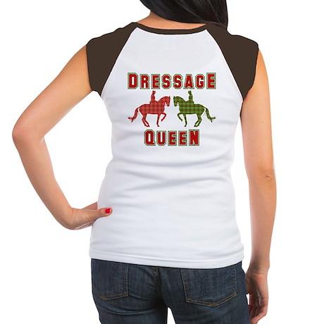 Dressage Queen Plaid Women's Cap Sleeve T-Shirt