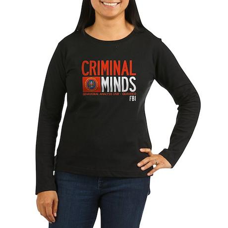 Criminal Minds FBI BAU Women's Long Sleeve Dark T-