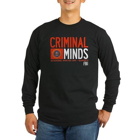 Criminal Minds FBI BAU Long Sleeve Dark T-Shirt