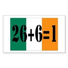 Irish pride Rectangle Decal