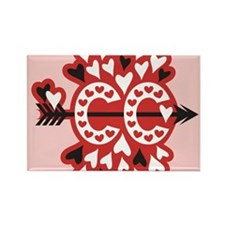 Cross Country Valentines Rectangle Magnet (100 pk)