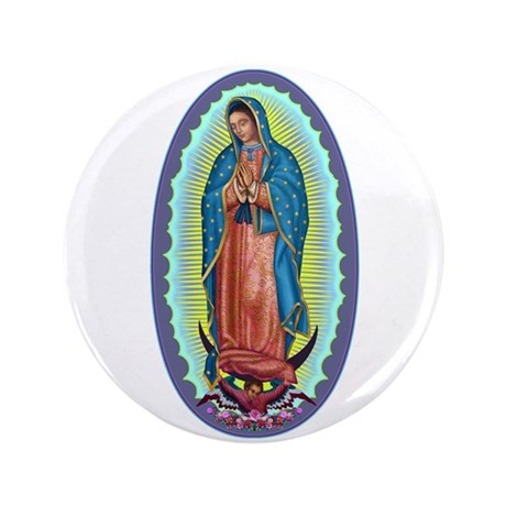 """1 Lady of Guadalupe 3.5"""" Button"""