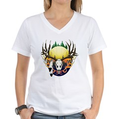 Deer skull with feathers Shirt