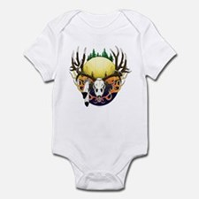 Deer skull with feathers Infant Bodysuit