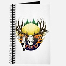 Deer skull with feathers Journal