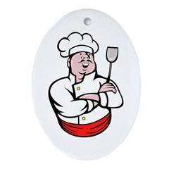 Italian Chef cook Ornament (Oval)