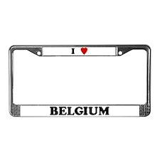 I Love Belgium License Plate Frame