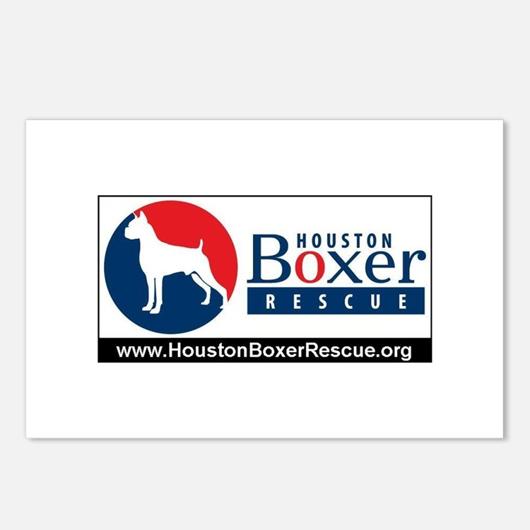 Cute Boxer logo Postcards (Package of 8)