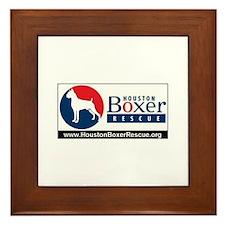 Cute Houston boxer rescue Framed Tile