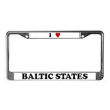 I Love Baltic States License Plate Frame