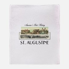 St. Augustine Americasbesthistory.co Throw Blanket