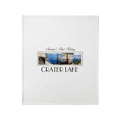Crater Lake Americasbesthistory.com Throw Blanket