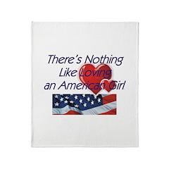 Love American Girl Throw Blanket