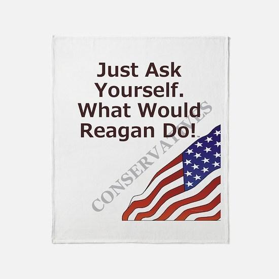 Conservative Mantra Throw Blanket