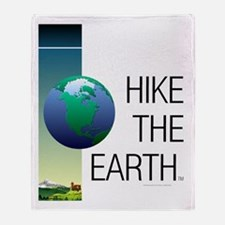TOP Hike the Earth Throw Blanket