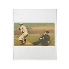 TOP Classic Baseball Throw Blanket
