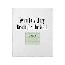 Swim Slogan Teepossible.com Throw Blanket
