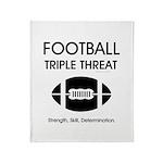 TOP Football Slogan Throw Blanket