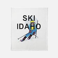 TOP Ski Idaho Throw Blanket