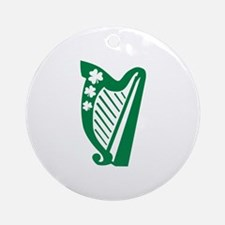 Irish harp Ornament (Round)
