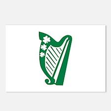 Irish harp Postcards (Package of 8)