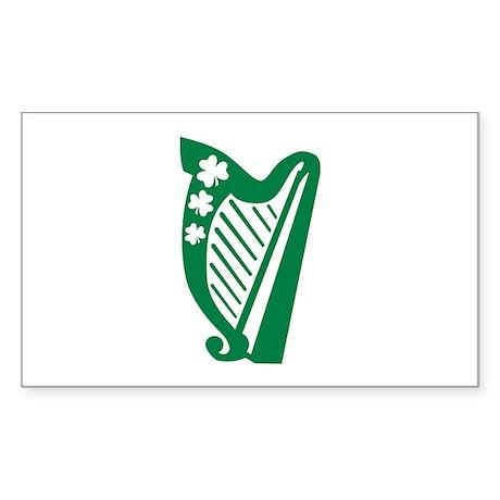 Irish harp Sticker (Rectangle)
