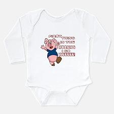 Cute Porky pig Long Sleeve Infant Bodysuit