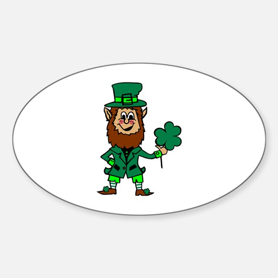 Leprechaun Sticker (Oval)